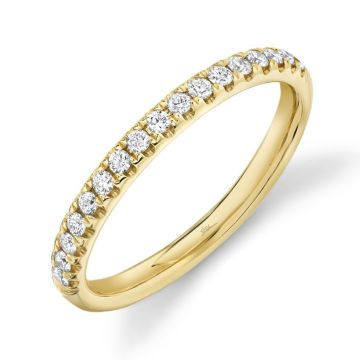 Shy Creation 14k Yellow Gold Wedding Band