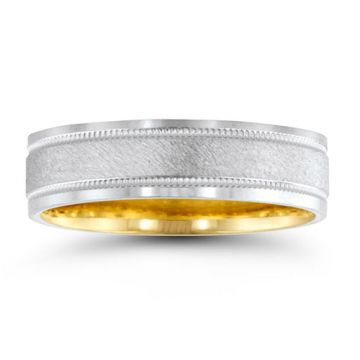 Novell 14k White Gold 6mm Men's Wedding Band