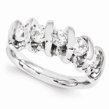 Quality Gold 14k White Gold Diamond Anniversary Band
