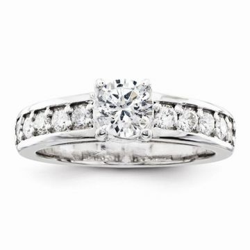 Quality Gold 14k White Gold AAA Diamond Engagement Ring