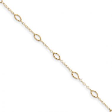 Quality Gold 14k Oval Shapes 9in with Anklet