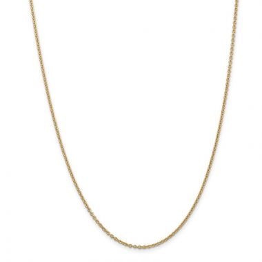 Quality Gold 14k 1.8mm Solid Polished Cable Chain Anklet