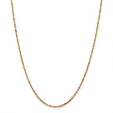 Quality Gold 14k 2.2mm Solid Polished Cable Chain Anklet