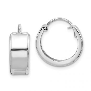 Quality Gold Sterling Silver Rhodium-plated 6x16mm Hoop Earrings