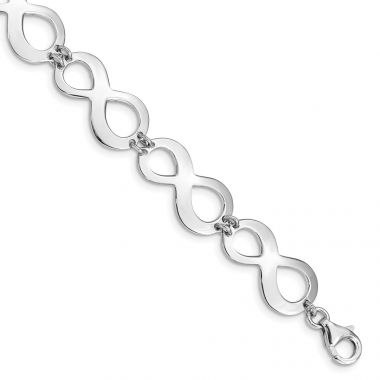 Quality Gold Sterling Silver Rhodium-plated Infinity Bracelet