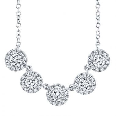 Shy Creation 14k White Gold Necklace