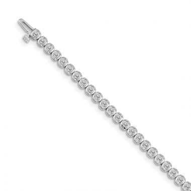 Quality Gold 14k White Gold Diamond Tennis Bracelet
