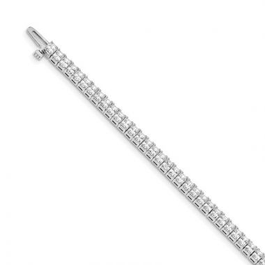 Quality Gold 14k White Gold 2.5mm Princess 6.6ct Diamond Tennis Bracelet