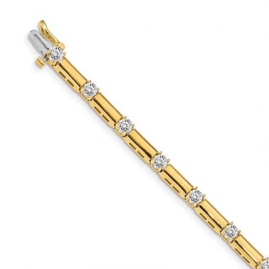 Quality Gold 14k Yellow Gold A Diamond Tennis Bracelet