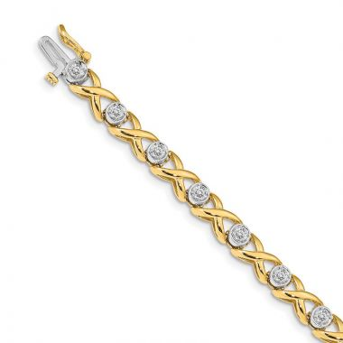 Quality Gold 14k Yellow Gold 2.6mm Diamond Tennis Bracelet