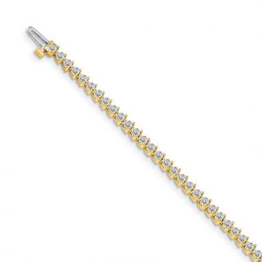 Quality Gold 14k Yellow Gold diamond Tennis Bracelet