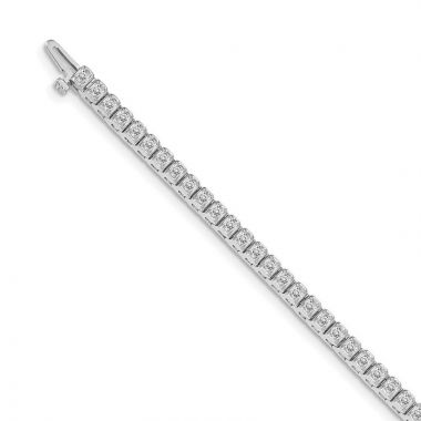 Quality Gold 14k White Gold AA Diamond Tennis Bracelet