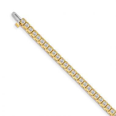 Quality Gold 14k Yellow Gold AA Diamond Tennis Bracelet