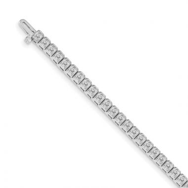 Quality Gold 14k White Gold VS Diamond Tennis Bracelet