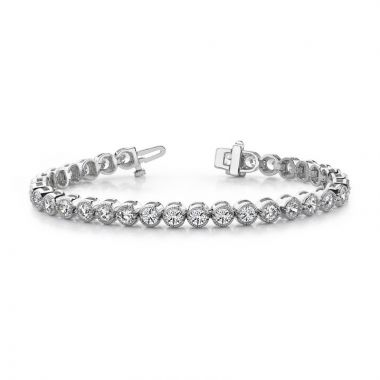Quality Gold 14k White Gold A Diamond Tennis Bracelet