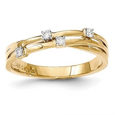 Quality Gold 14k Yellow Gold Diamond Fashion Ring